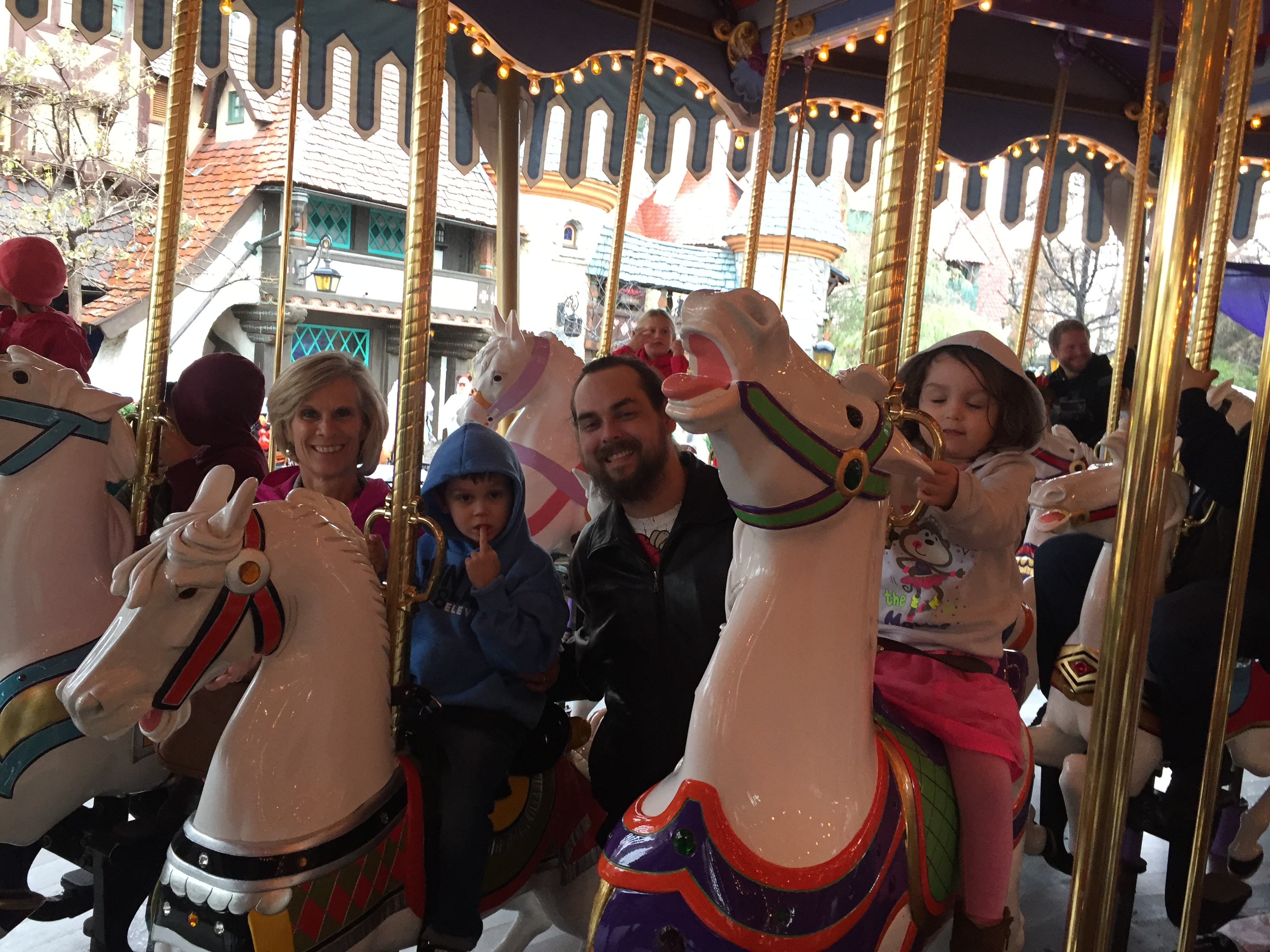 Hughbanks family at Disneyland