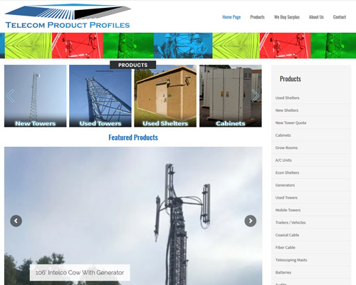 Website Design for Telecom Company